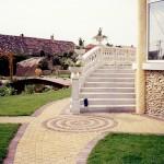 kültéri lépcső
